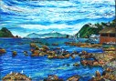 Island Bay looking West A3 print