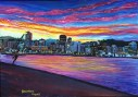 Wellington Waterfront Sunset A3 Print